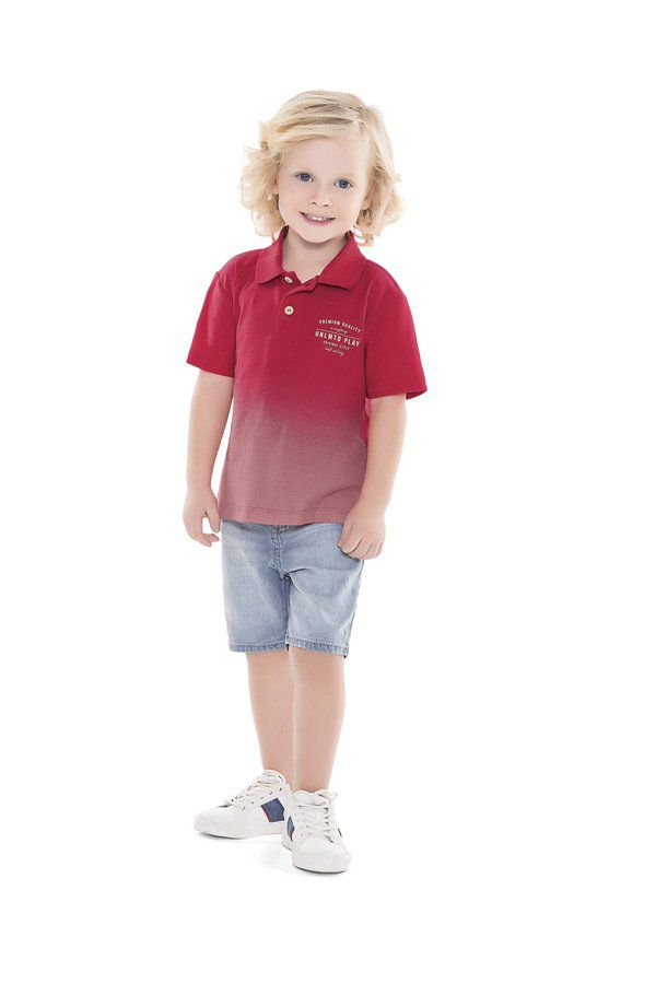 Camisa Pólo Infantil Verão - Playground Fakini
