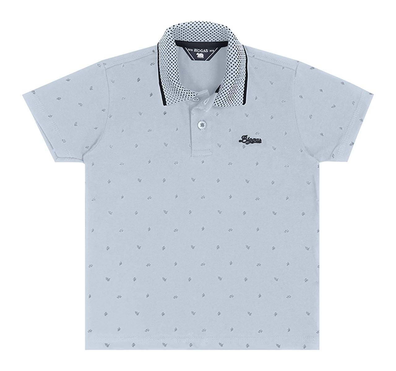 Camiseta Pólo Infantil Verão Azul - Biogás
