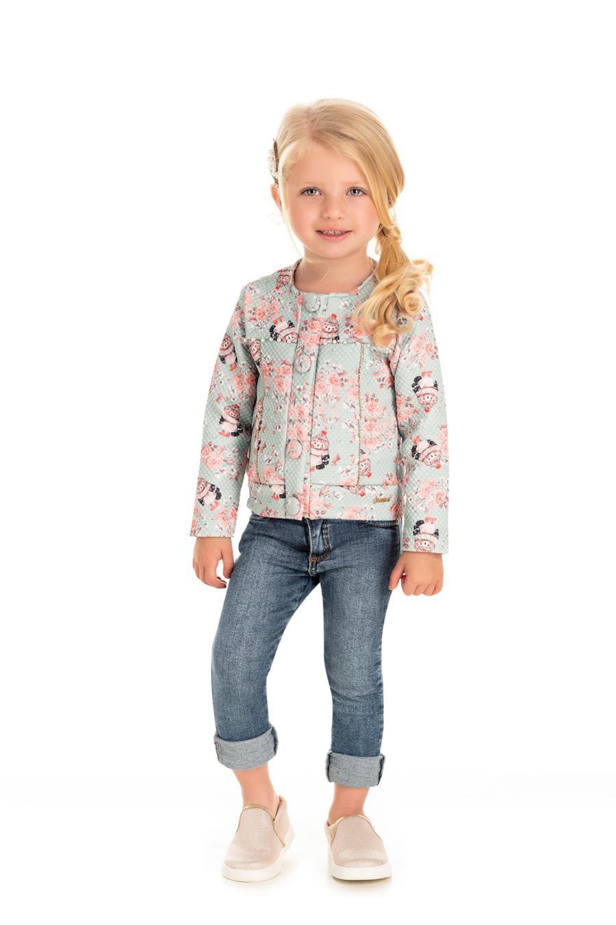Cardigan Infantil Detalhe Floral - Pic Nic