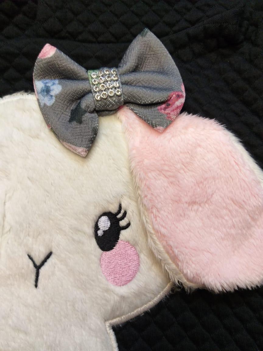 Conjunto Bebê Menina Inverno Cachorrinho, 2 peças - Quebra Cabeça