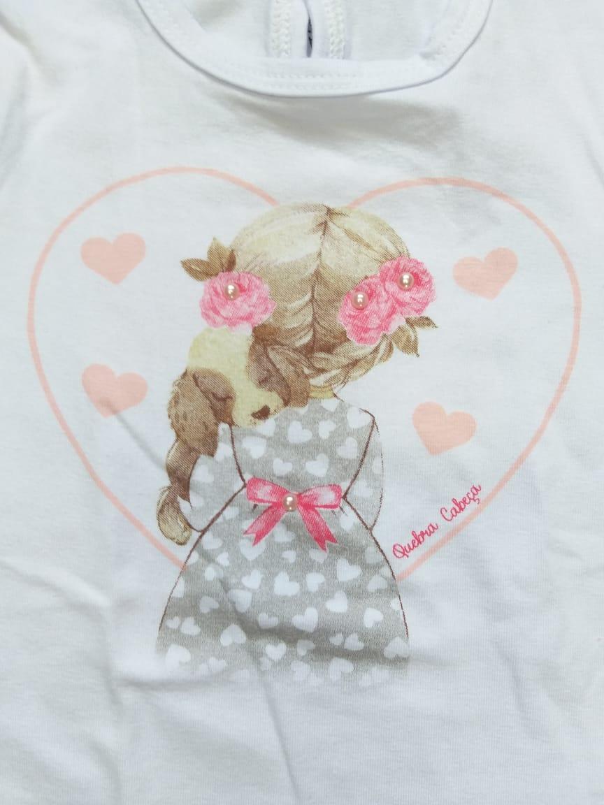 Conjunto Bebê Menina Inverno Corações, 3 peças - Quebra Cabeça