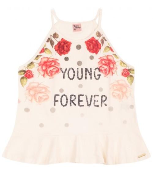Conjunto Infantil Verão Young Forever, 2 peças - Quebra Cabeça