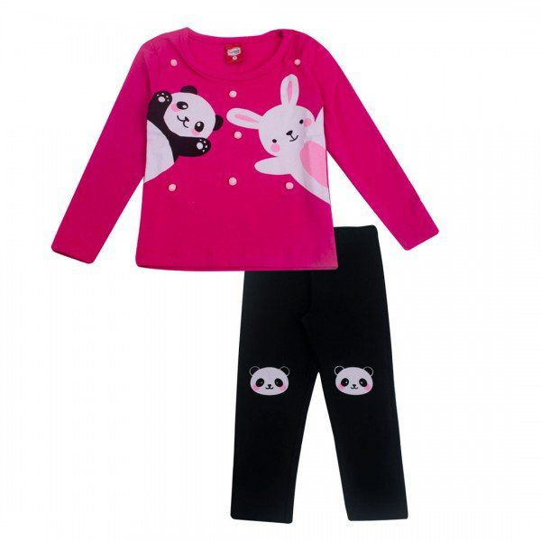 Conjunto Infantil Inverno 2 peças Panda - Gueda