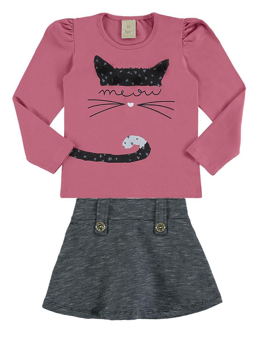 Conjunto Infantil Inverno Meow, 2 peças - Angerô