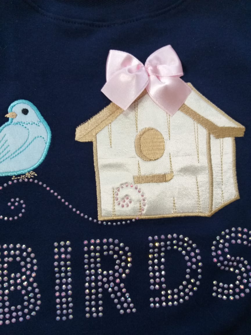 Conjunto Infantil Inverno Pássaros 2 peças - Quebra Cabeça