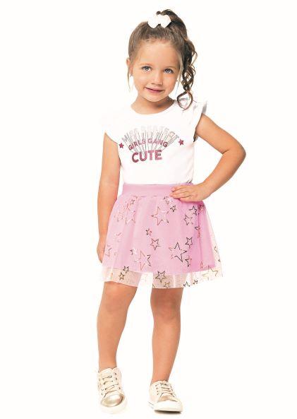 Conjunto Infantil Menina Verão Cutte, 2 peças - Angerô