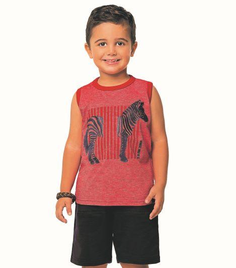 Conjunto Infantil Menino Verão Zebra, 2 peças - Angerô