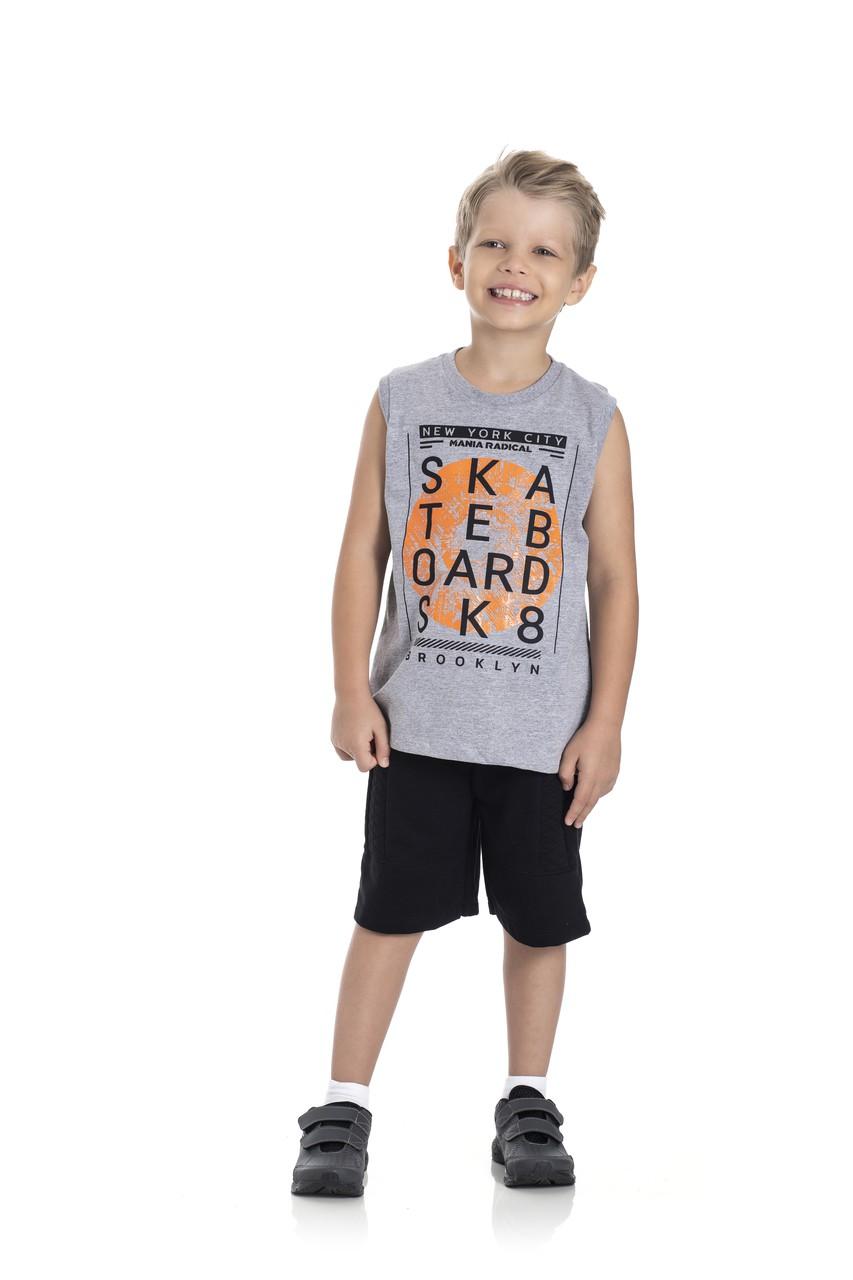 Conjunto Infantil Menino Skateboard, 2 peças - Gueda