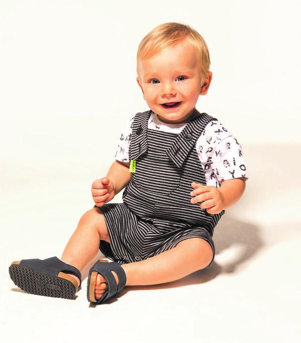 Jardineira E Camiseta Bebê Menino Verão, 2 peças  - Biogás