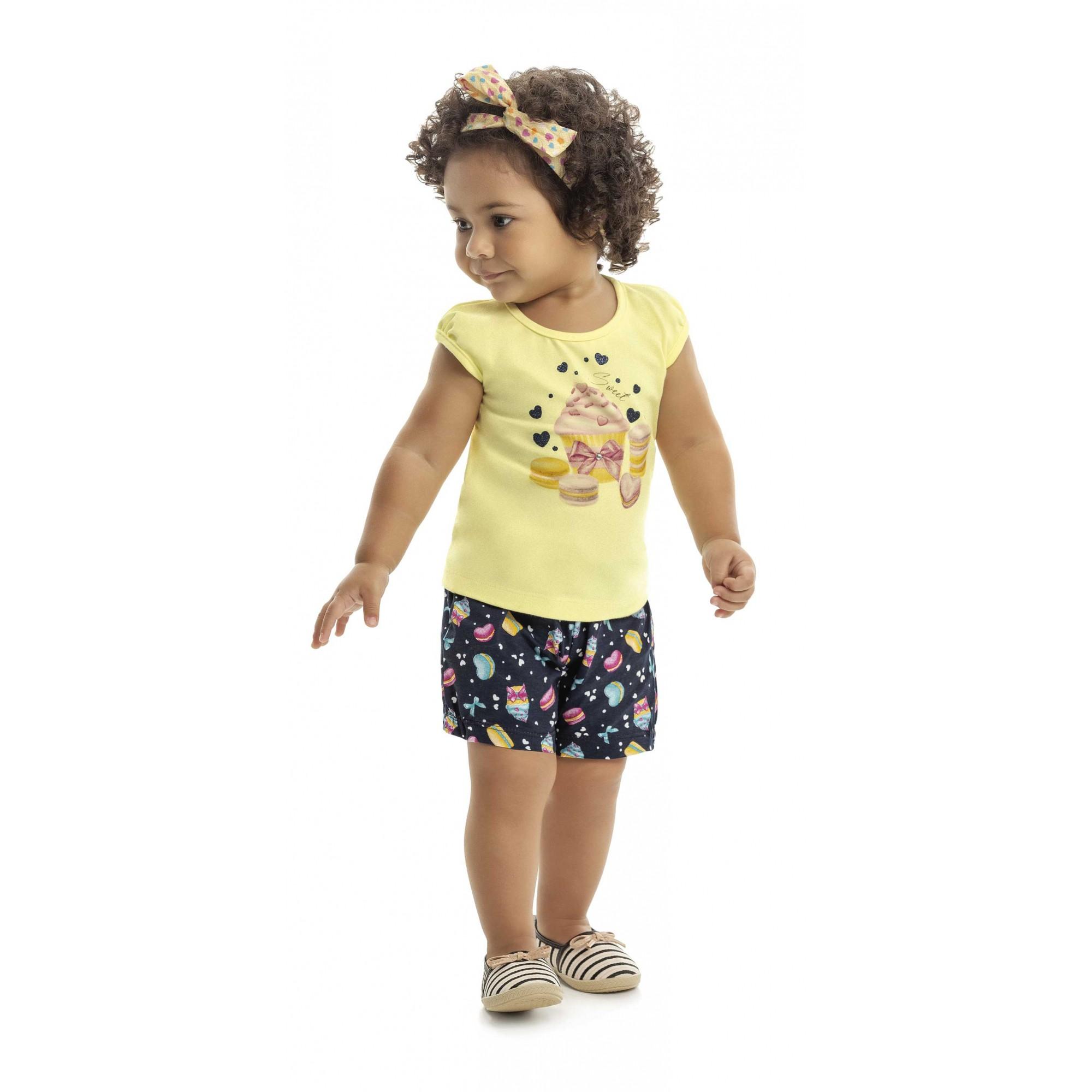 Conjunto Infantil Verão Cupcake 2 peças - Kaiani