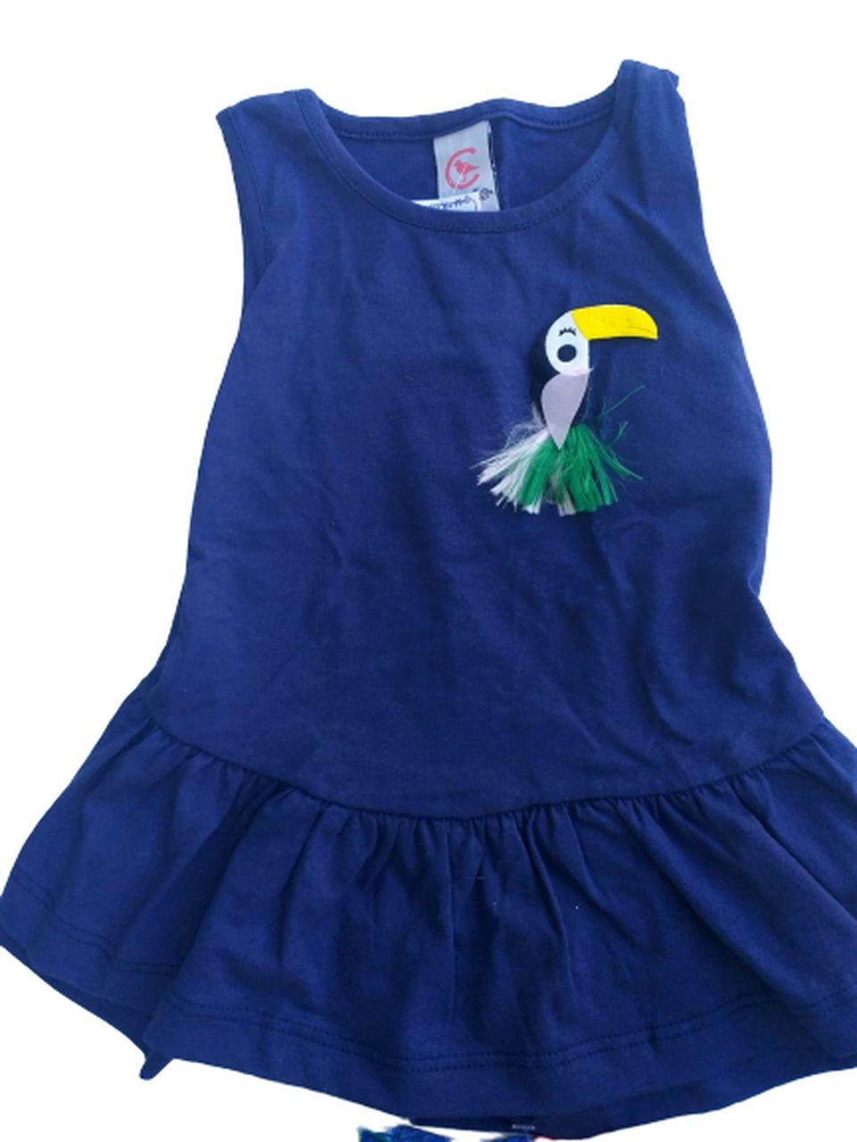 Conjunto Infantil Verão Tucano - 2 peças - Costão Mini - 2 - Azul