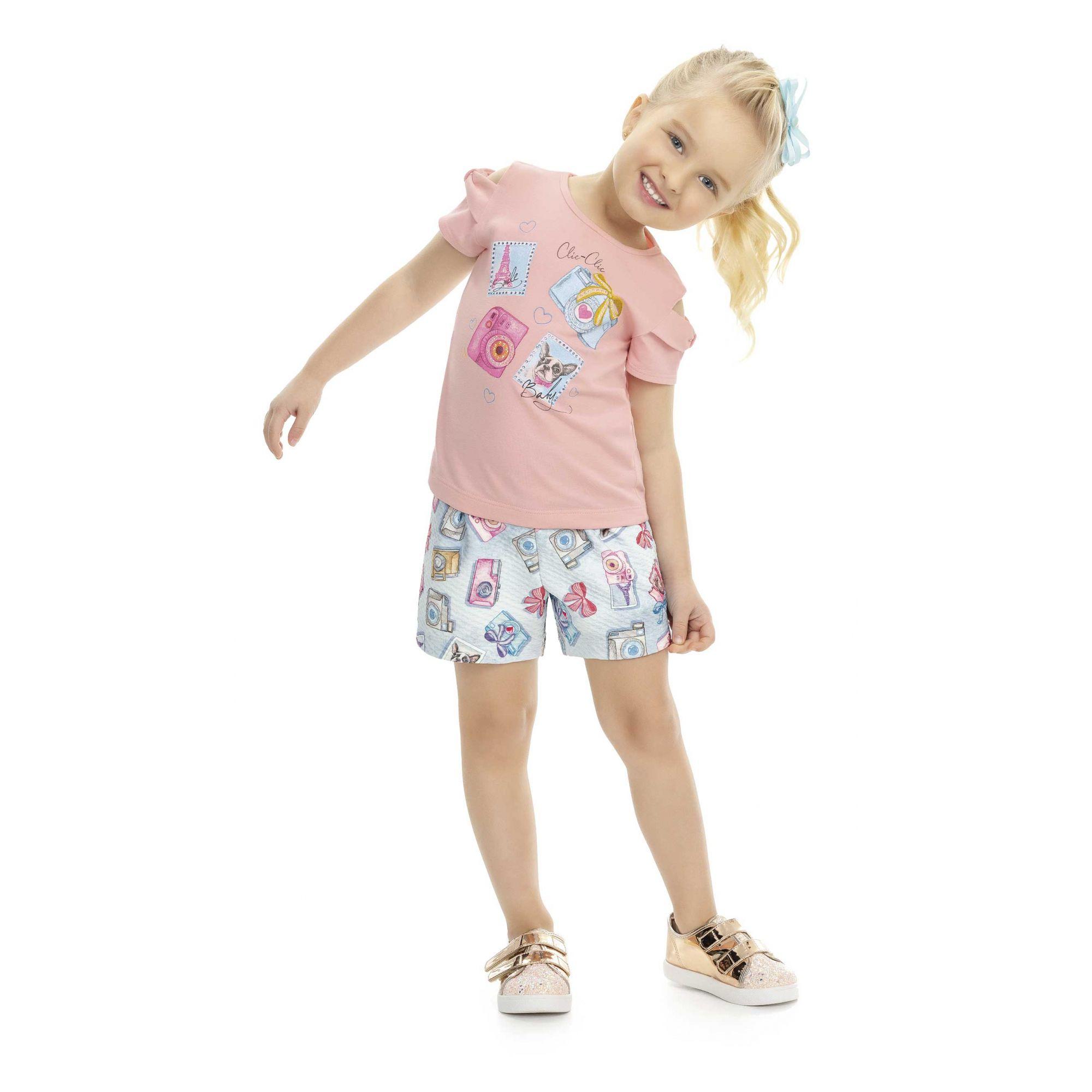 Conjunto Infantil Verão Fotografia , 2 Peças - Kaiani