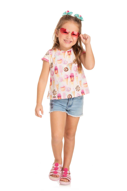 Cropped Infantil Verão Doces - Quebra cabeça