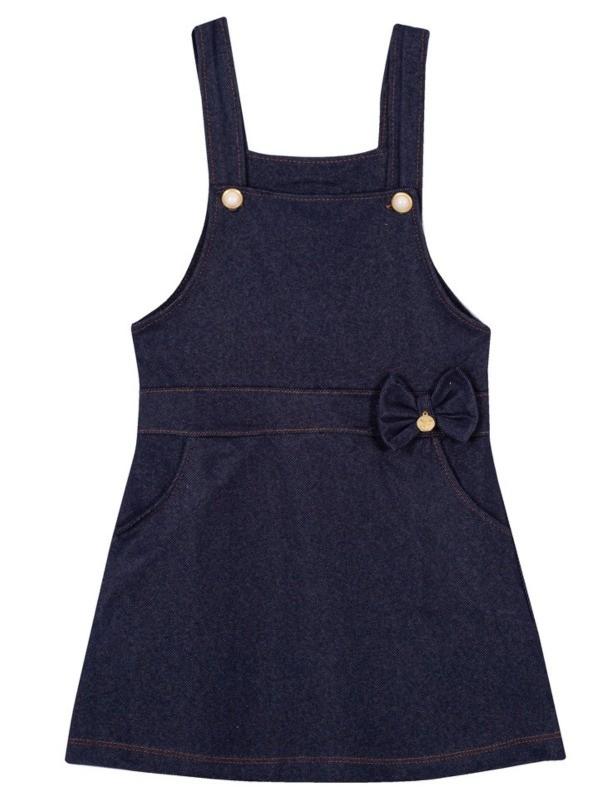 Jardineira Infantil Verão Em Cotton Jeans - Gueda