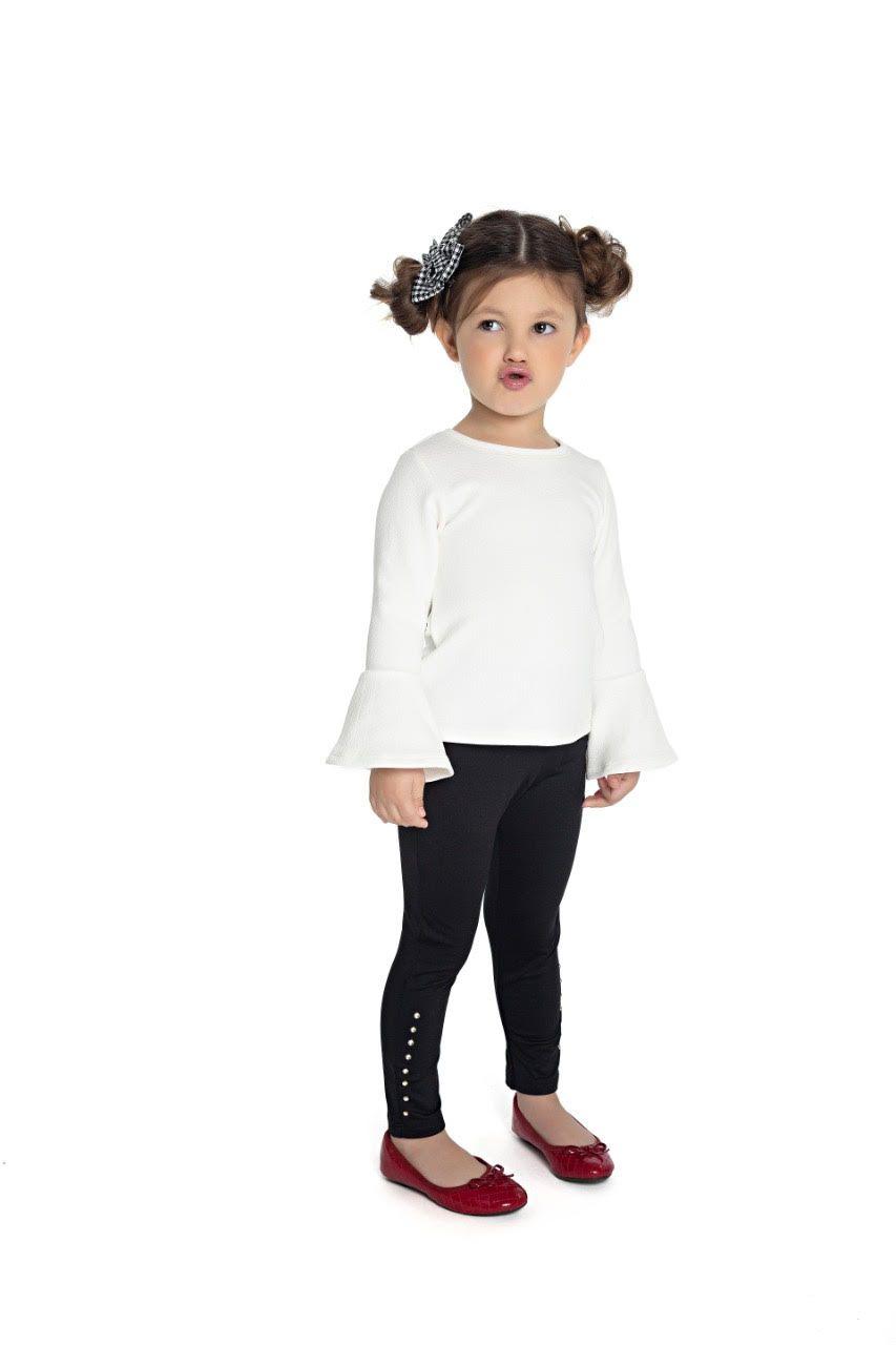 Legging Infantil Peluciada Com Strass