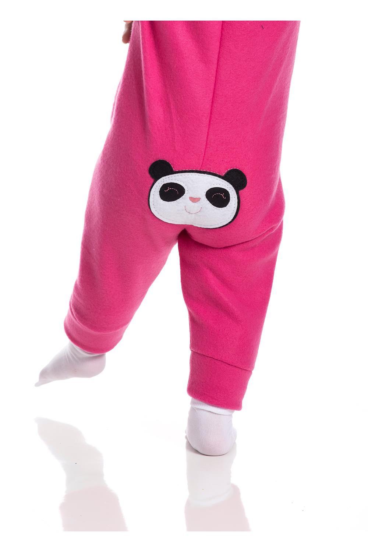 Macacão Soft Bebê Menina Inverno Panda - Gueda