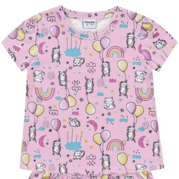 Pijama Infantil Verão Gatinhos, 2 peças - Fakini