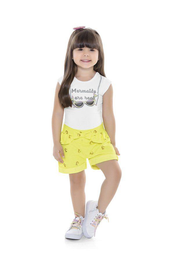 Short Infantil Sereia Neon - Fakini
