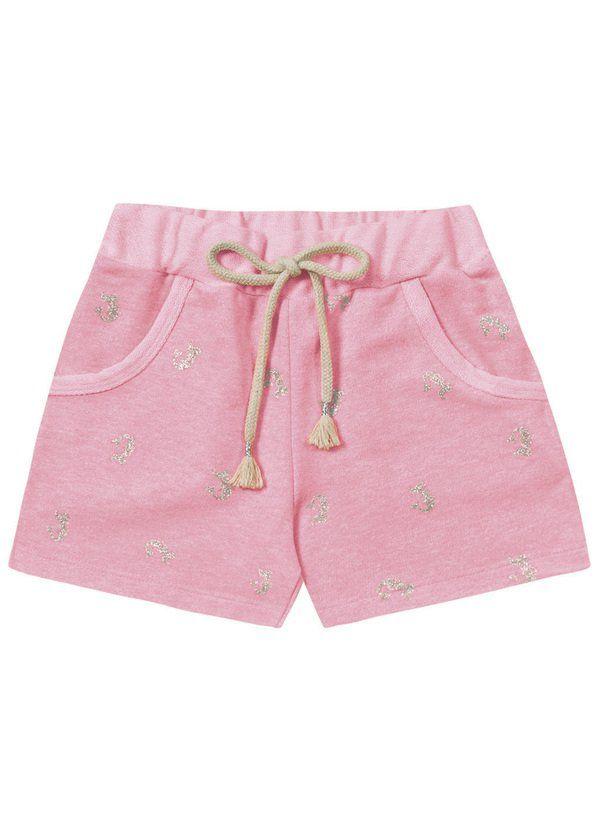 Short Infantil Sereia, Rosa Neon - Fakini