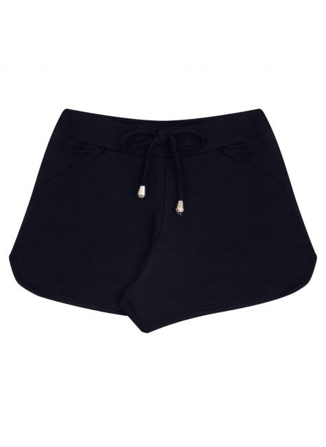 Shorts infantil Verão Casual Preto - Quebra Cabeça