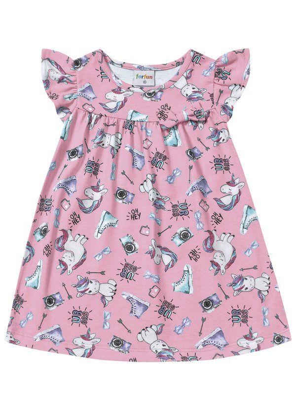 Vestido Bebê Verão Unicórnio - Fakini ForFun
