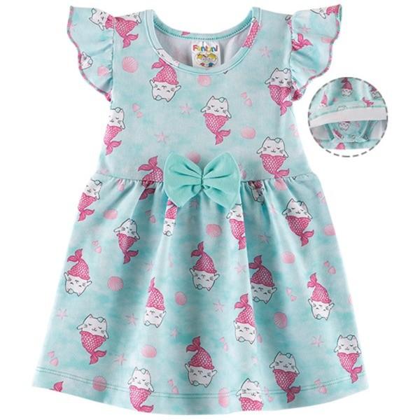 Vestido Body Bebê Verão Gatinha Sereia - Fantoni