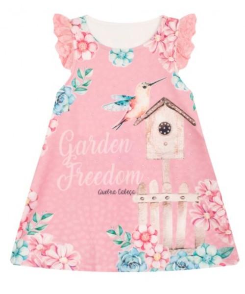 Vestido Infantil Verão Passarinho  - Quebra Cabeça