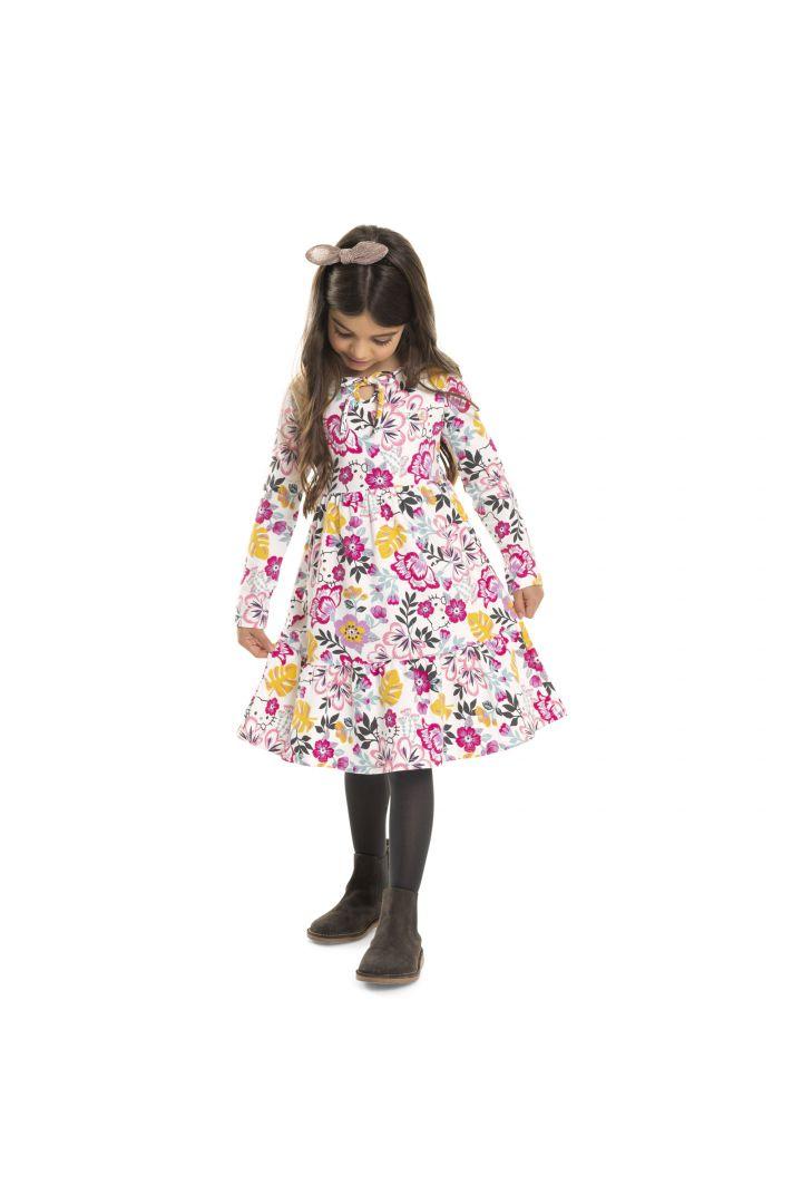 Vestido Infantil Inverno Floral  - Hello Kitty