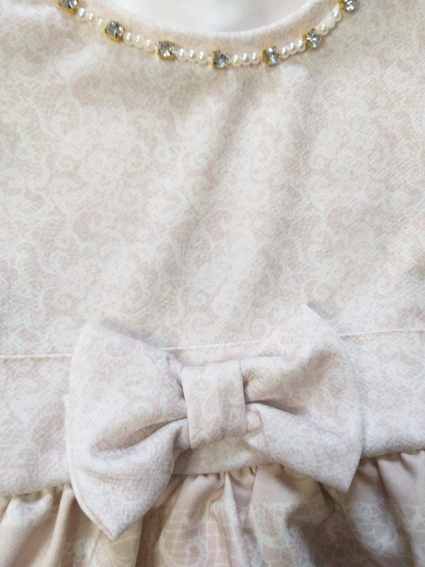 Vestido Infantil Inverno Floral - Quebra Cabeça