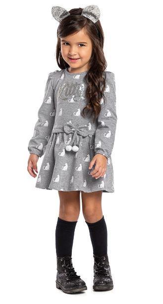 Vestido Infantil Inverno Kitty - Angerô