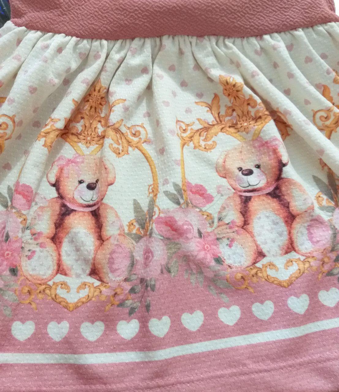 Vestido Infantil Inverno Ursos - Gueda