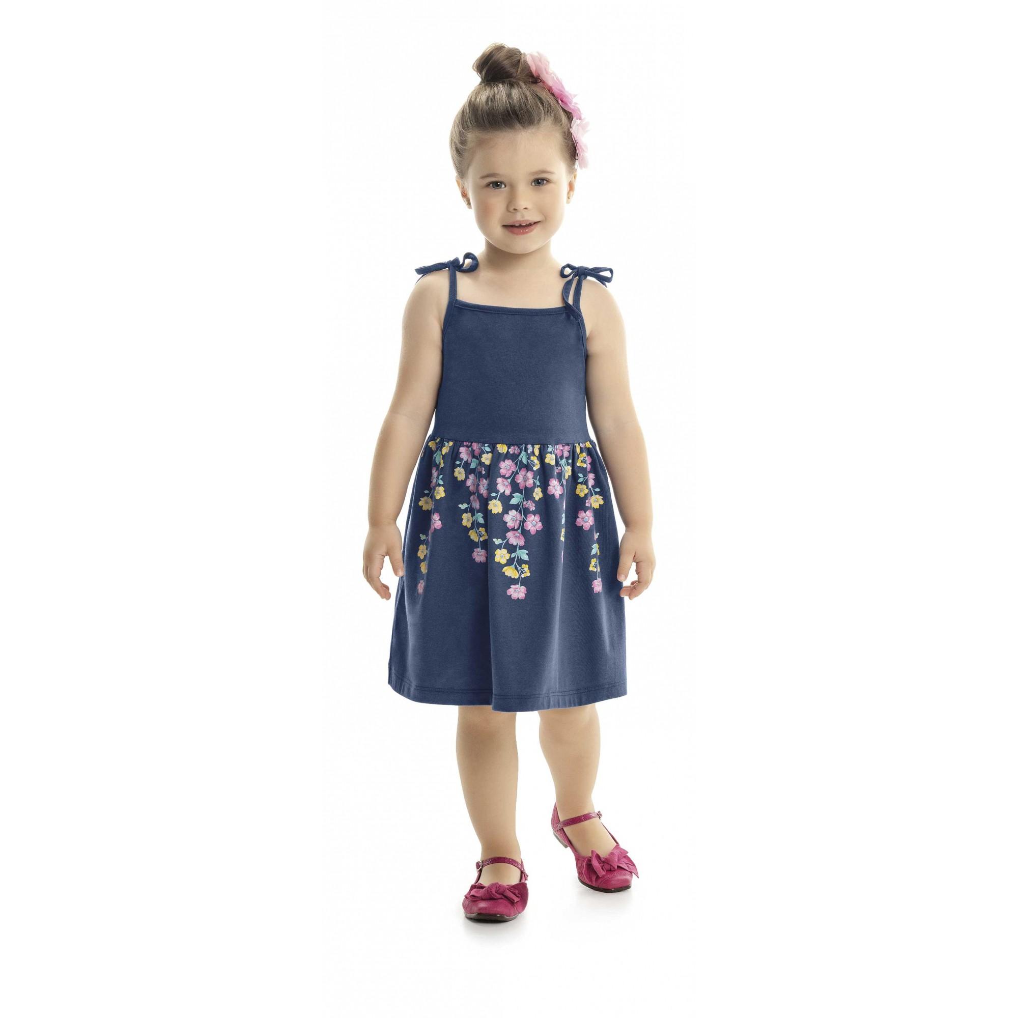 Vestido Infantil Verão Alças - Kaiani