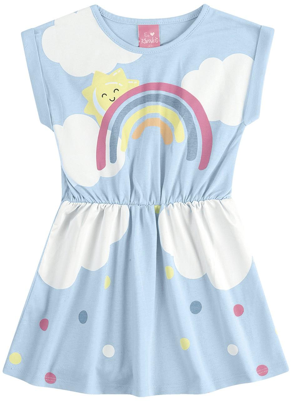 Vestido Infantil Verão Arco Íris - Kamylus
