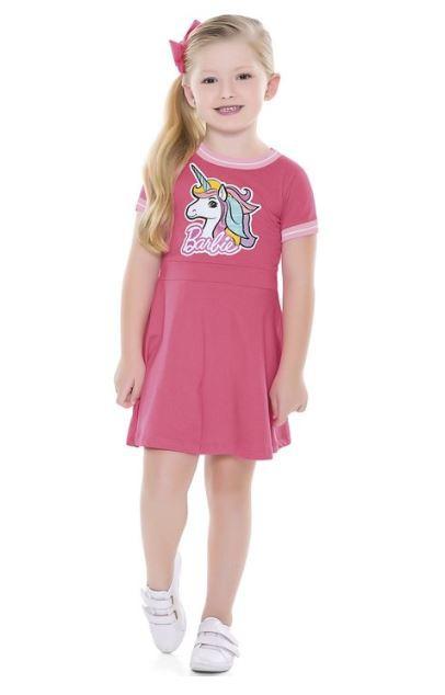 Vestido Infantil Verão Barbie Dreamtopia - Fakini