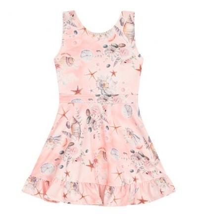 Vestido Infantil Verão Conchas  - Quebra Cabeça