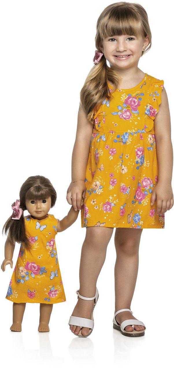 Vestido Infantil Verão Floral. 4 a 8 Anos- Kely & Kety
