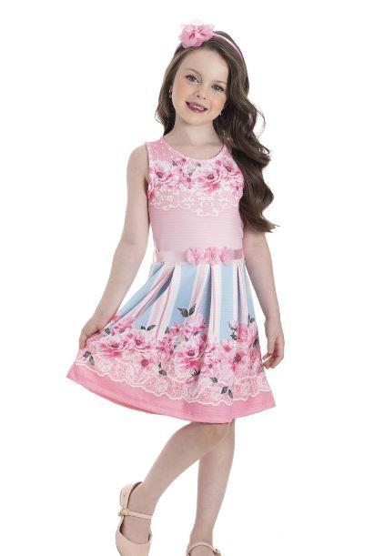 Vestido Infantil Verão Flores - Gueda