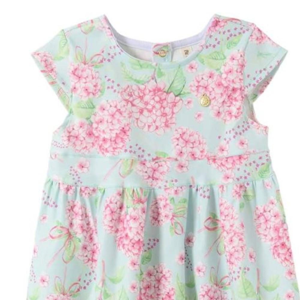 Vestido Infantil Verão Flores Rosas - Pic Esconde