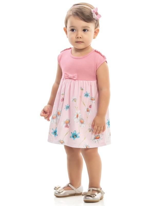 Vestido Infantil Verão Margaridas - Kaiani