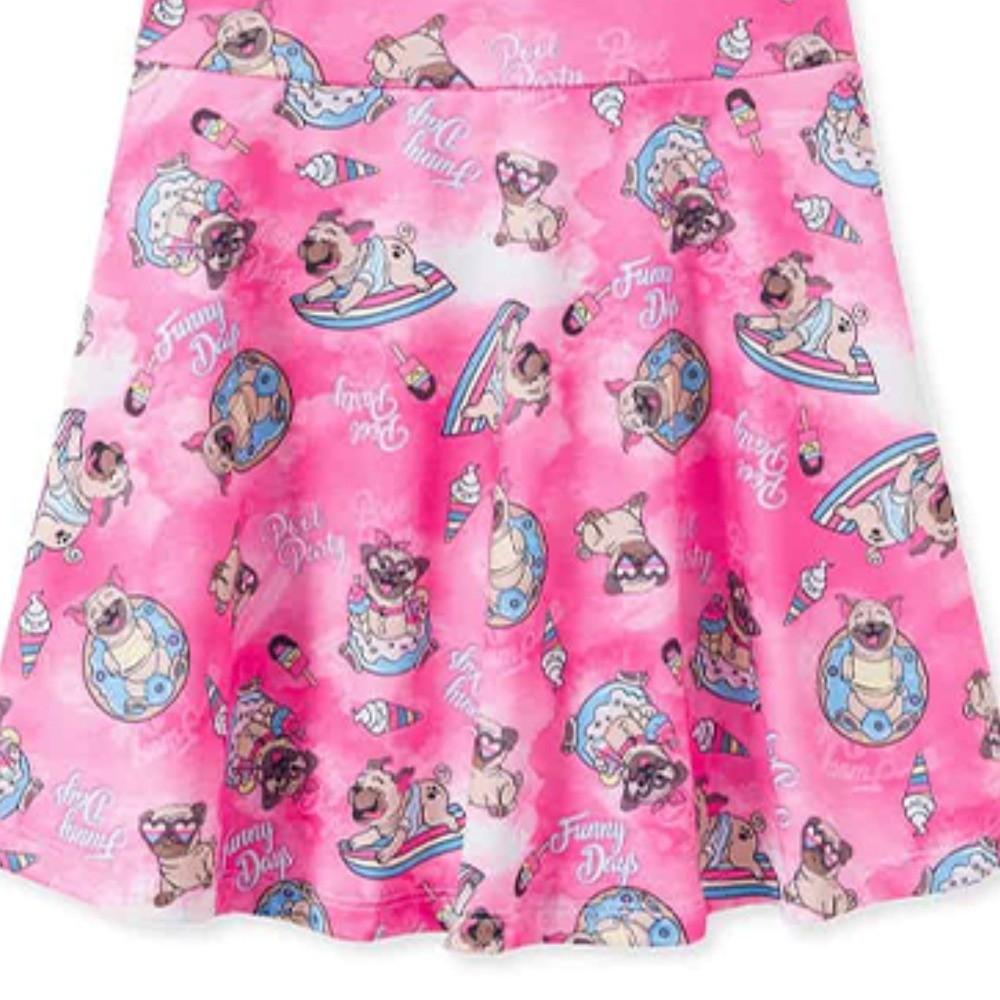 Vestido Infantil Verão Pool Party Pug - Pic Esconde
