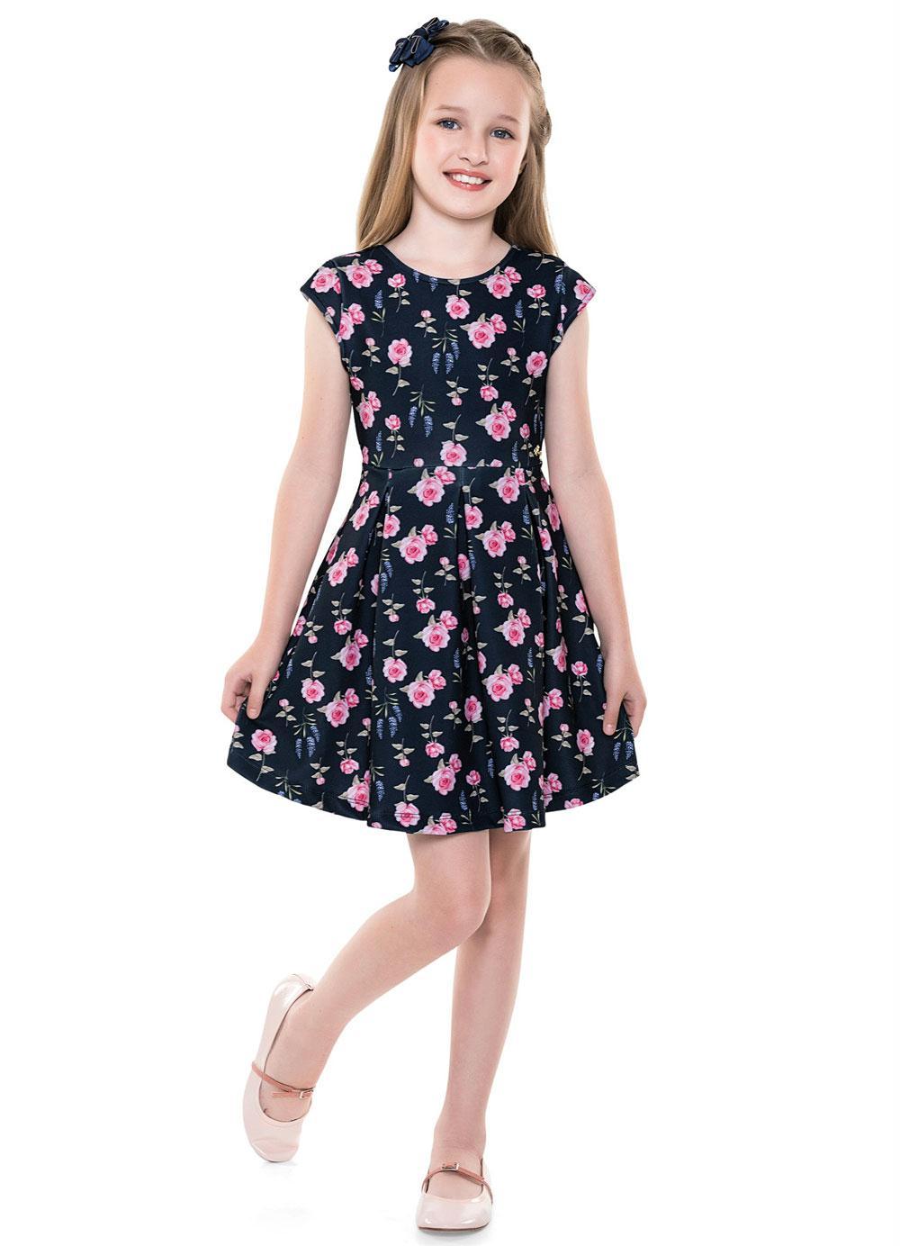 Vestido Infantil Verão Rosas - Fakini Playground