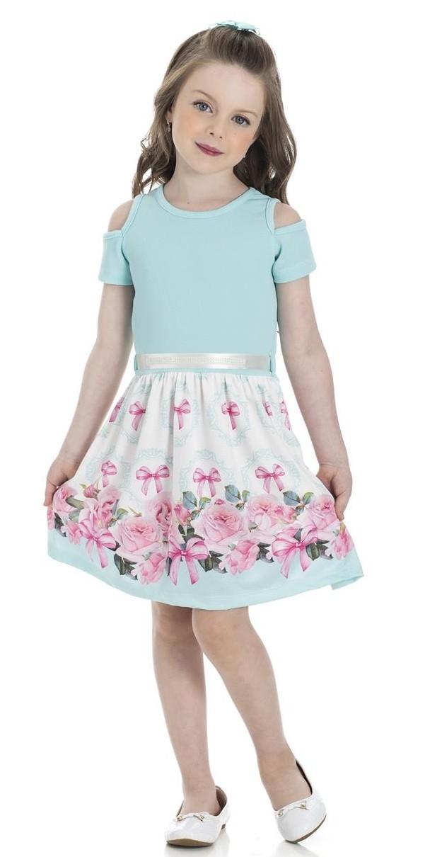Vestido Infantil Verão Rosas - Gueda