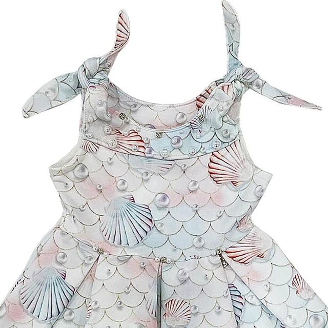 Vestido Infantil Verão Sereia - Kiki Xodó