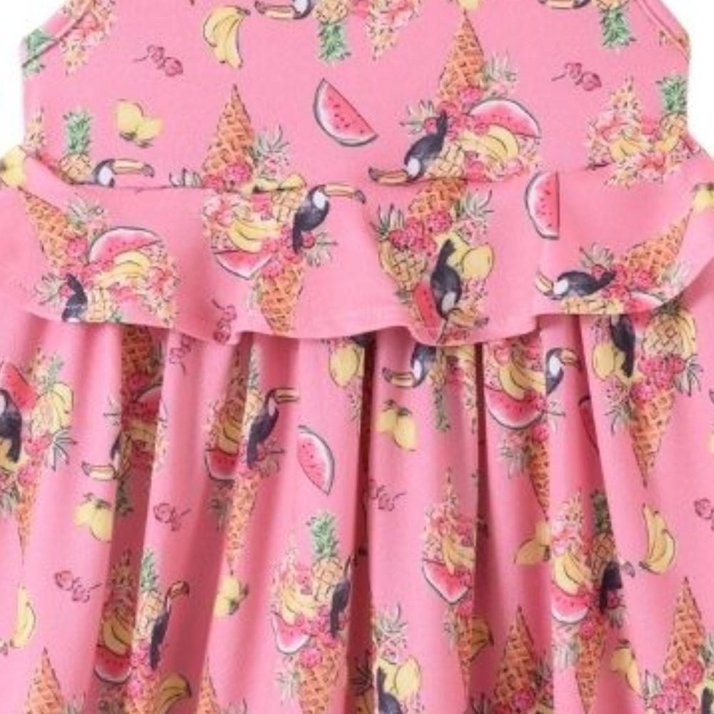 Vestido Infantil Verão Tucanos - Pic Esconde