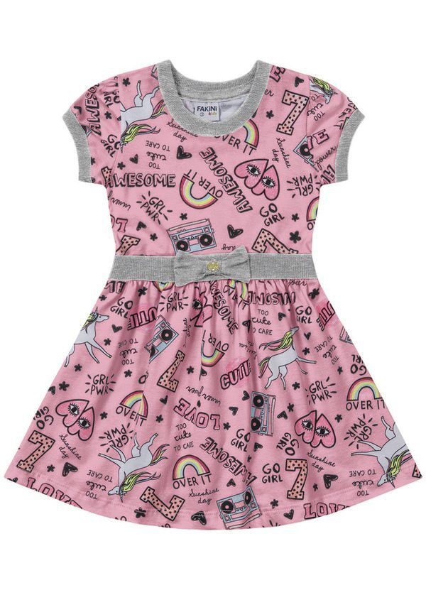 Vestido Infantil Verão Unicórnio - Fakini