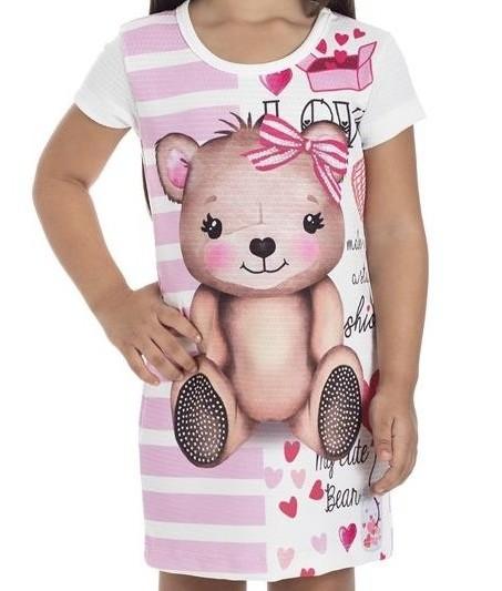Vestido Infantil Verão Urso - Gueda