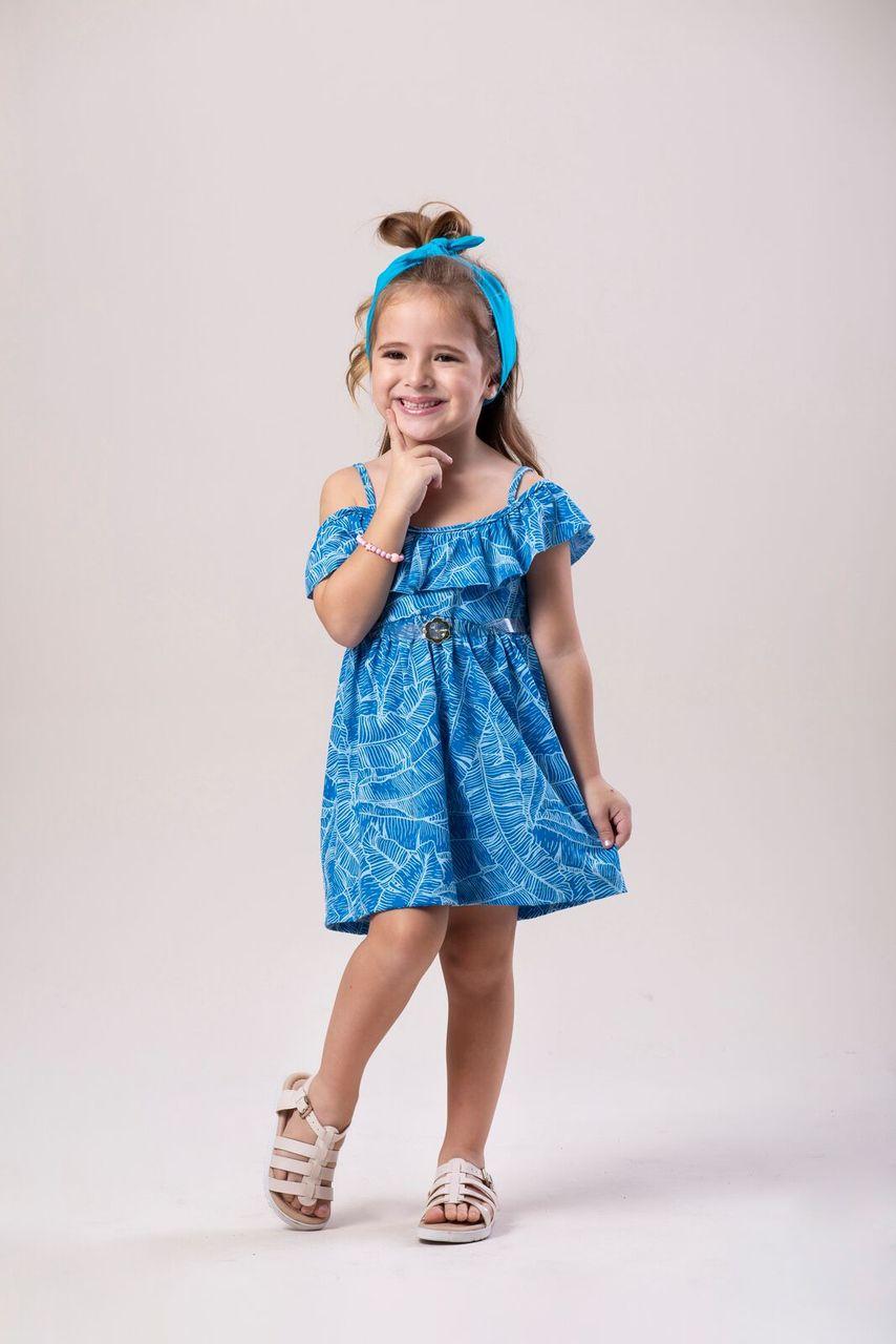 Vestido Infantil Verão Folhas - Costão Mini