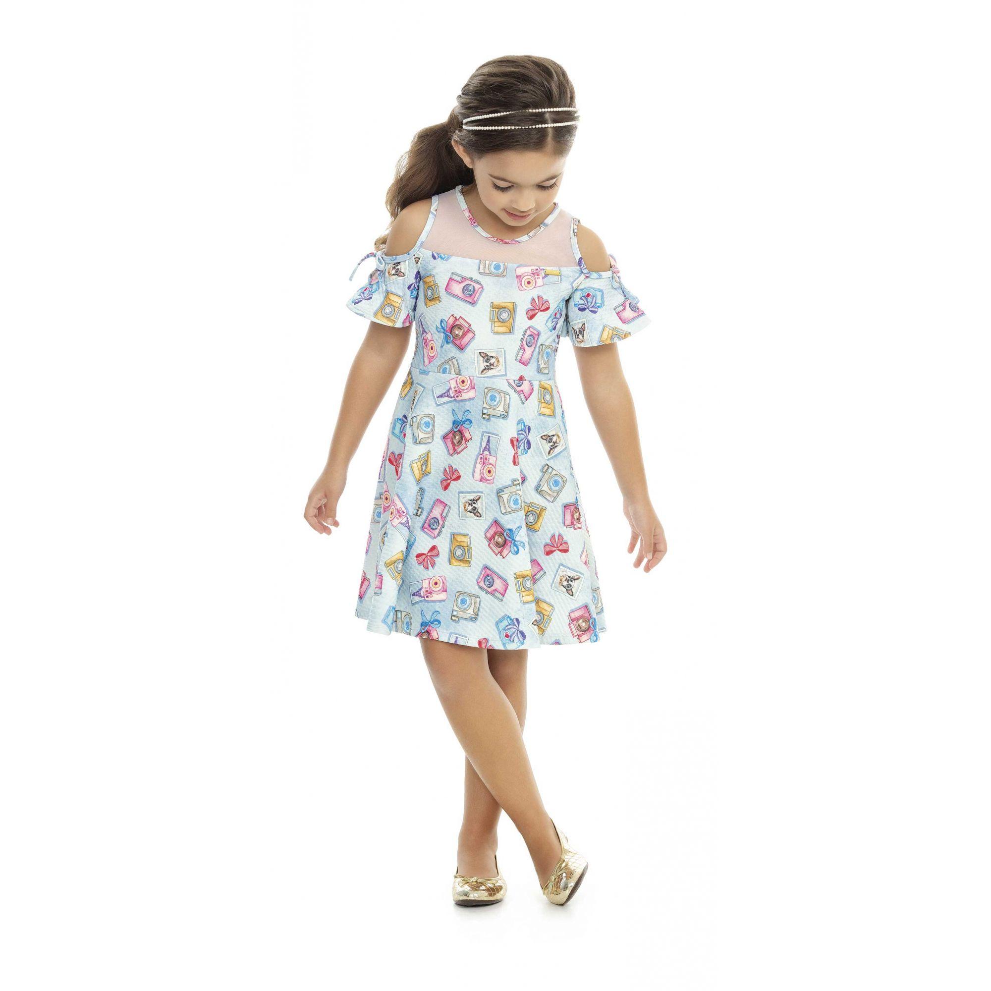 Vestido Infantil Verão Retratos - Kaiani
