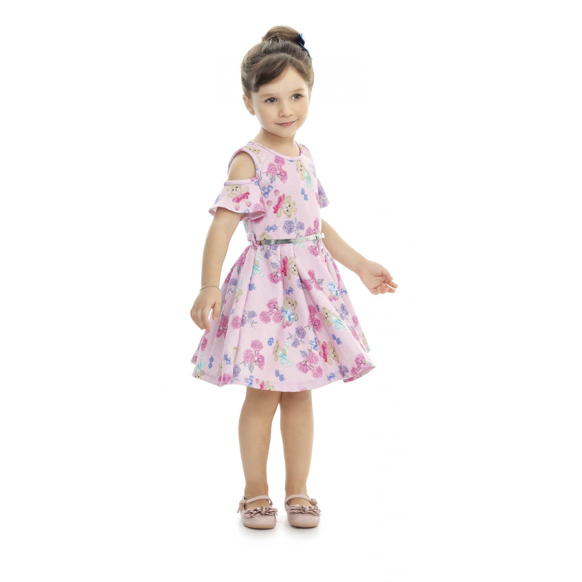 Vestido Infantil Verão Ursos - Kaiani