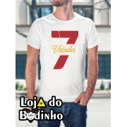 Camiseta 7 Virtudes - 3 Opções de Cores